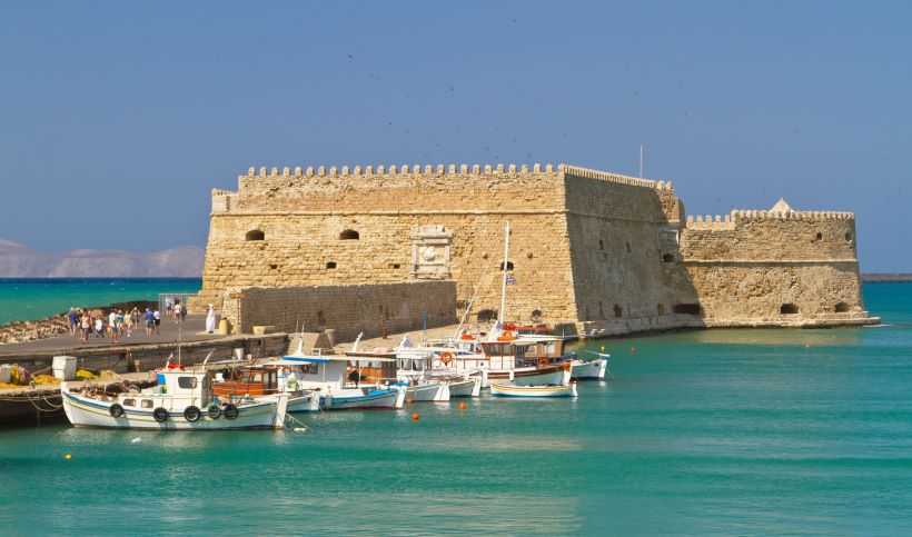 Koules Fortress, in the old harbour of Heraklion