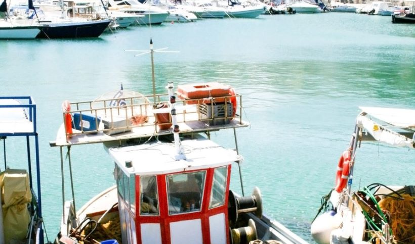 A view of the harbour of Heraklion, Crete